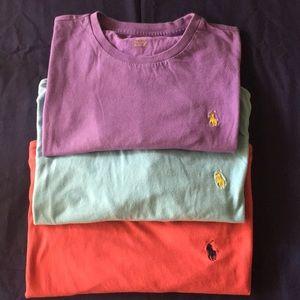 3 Polo Ralph Lauren T-Shirts